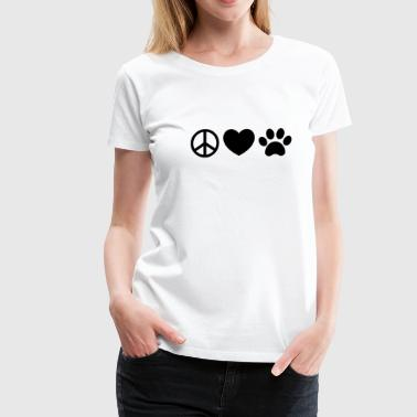 Peace, Love, Rescue - Women's Premium T-Shirt