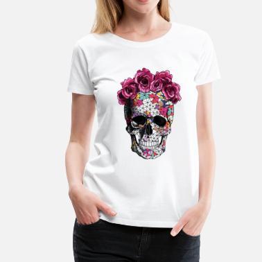 754e047b554 Sugar Skull a beautiful death tee - Women  39 s Premium T-Shirt