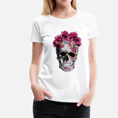 efab635f Sugar Skull a beautiful death tee - Women's Premium T-Shirt. Women's ...