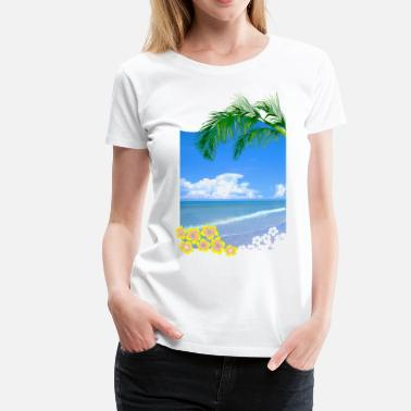 Tropical Tropical Beach - Women's Premium T-Shirt