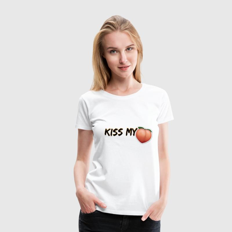 KISS MY A**! (PEACH EMOJI) - Women's Premium T-Shirt