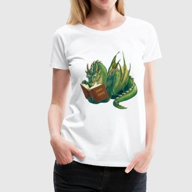 reading dragon - Women's Premium T-Shirt