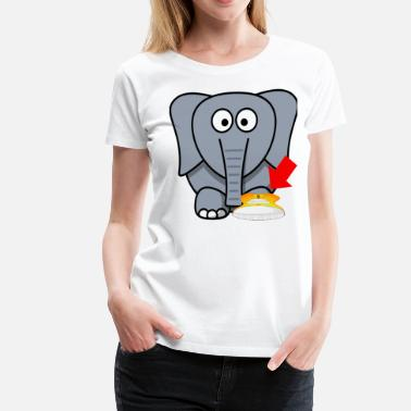 Shoe Elephant shoe I Love You - Women's Premium T-Shirt