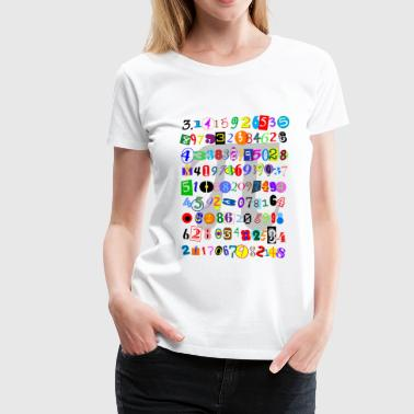 The Many Digits of Pi - Women's Premium T-Shirt