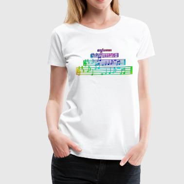 Notes - Women's Premium T-Shirt