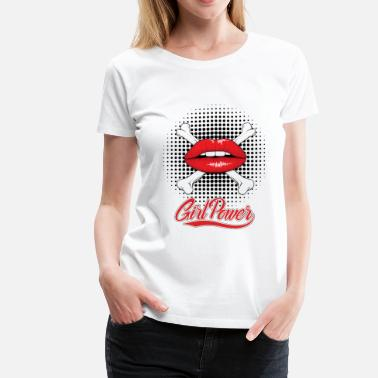 Red Lip Red Lips - Women's Premium T-Shirt