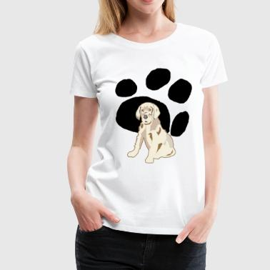 Geeting Grown Up Paws - Women's Premium T-Shirt