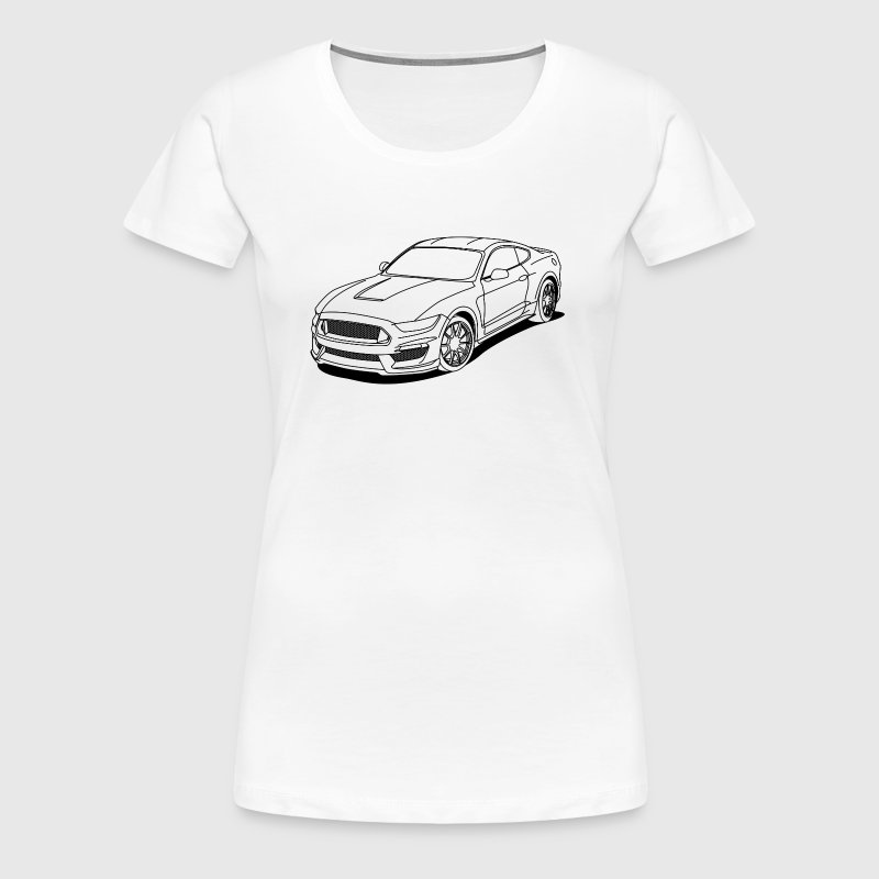 Cool car white outlines - Women's Premium T-Shirt