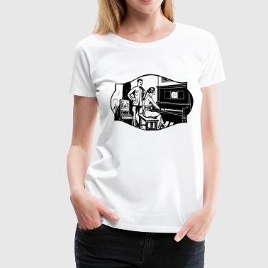 Playing Piano - Women's Premium T-Shirt