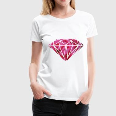 pink roses diamond swag - Women's Premium T-Shirt