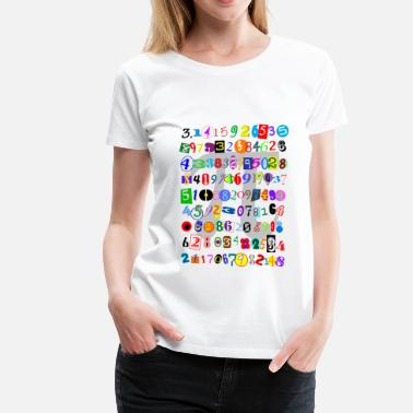 Kids Digit The Many Digits of Pi - Women's Premium T-Shirt