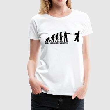 Man Vs Zombie - Evolution - Women's Premium T-Shirt