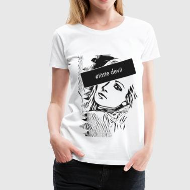 Metal Running Sexy Pin Up Girl with message 2reborn - Women's Premium T-Shirt