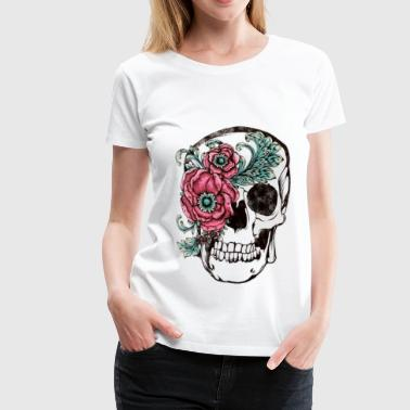 Flower Skull - Women's Premium T-Shirt