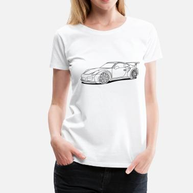 Outlined Car outlines - Women's Premium T-Shirt