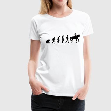 The Evolution of Riding - Women's Premium T-Shirt