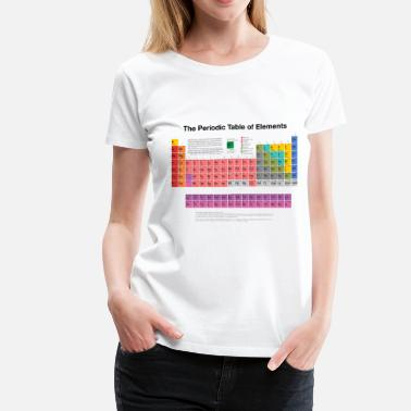 Table Periodic Table of Elements (PTE) dark - Women's Premium T-Shirt