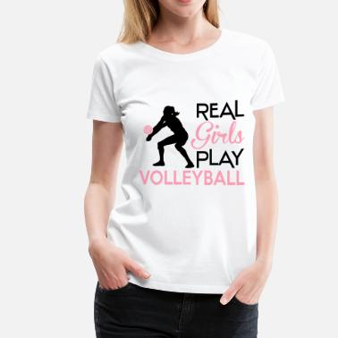 Volley Ball Real girls play volleyball - Women's Premium T-Shirt