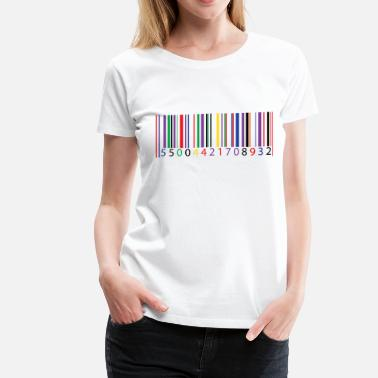 Girl Code color bar code - Women's Premium T-Shirt