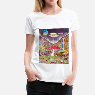 Trippy Cartoon Trip One - Women's Premium T-Shirt