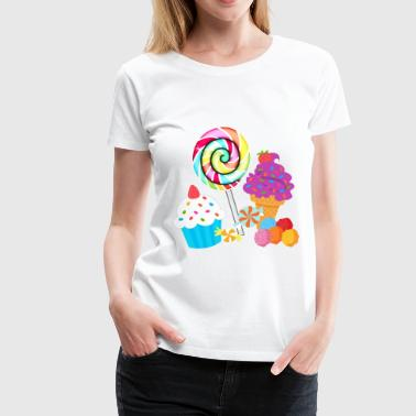Candy Sweets - Women's Premium T-Shirt