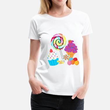 Candy Bar Sweets - Women's Premium T-Shirt