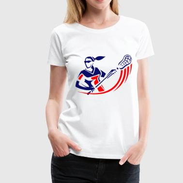 lacrosse girl - Women's Premium T-Shirt