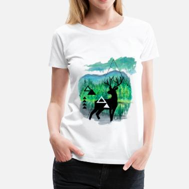 Stag And Doe Stag - Women's Premium T-Shirt