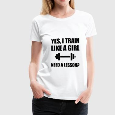 Like A Girl Train - Women's Premium T-Shirt
