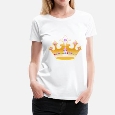 Gold Crown crown with diamonds - Women's Premium T-Shirt
