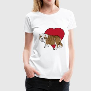 Puppy Love Love Bulldog Puppy - Women's Premium T-Shirt