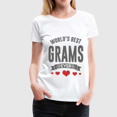 GRAMS.png - Women's Premium T-Shirt