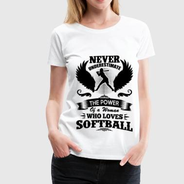 softball 1aa.png - Women's Premium T-Shirt