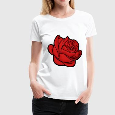 red rose - Women's Premium T-Shirt