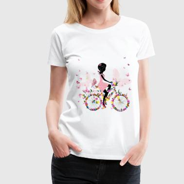 girl on a bicycle - Women's Premium T-Shirt