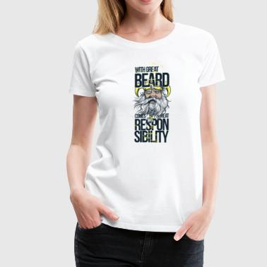 With Great Beard - Women's Premium T-Shirt