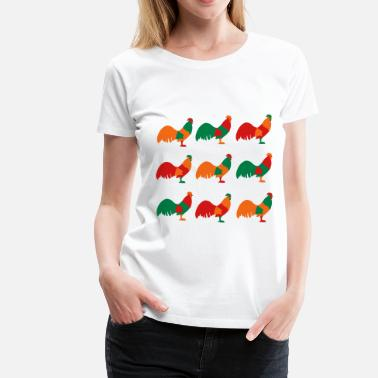 Vector Chicken Chicken - Women's Premium T-Shirt