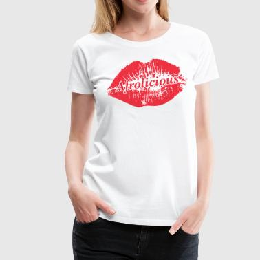 Global Couture Afrolicious Lips - Women's Premium T-Shirt
