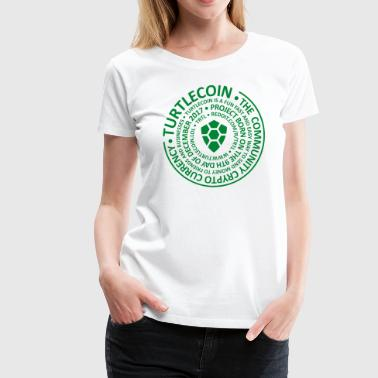 Turtlecoin Circle in Circle - Women's Premium T-Shirt