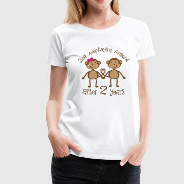 2nd Anniversary funny monkeys - Women's Premium T-Shirt