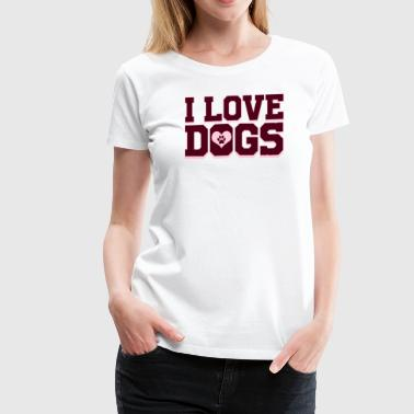 Tail Dog - I Love Dogs - Women's Premium T-Shirt