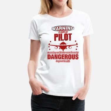 Air Cooled Pilot Captain Aircraft Captain Aircraft Gift - Women's Premium T-Shirt