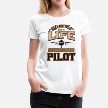 Air Plane Pilot Captain Aircraft Airplane Airman Gift - Women's Premium T-Shirt