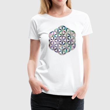 Abalone Shell Flower of life Abalone shell on pearl - Women's Premium T-Shirt