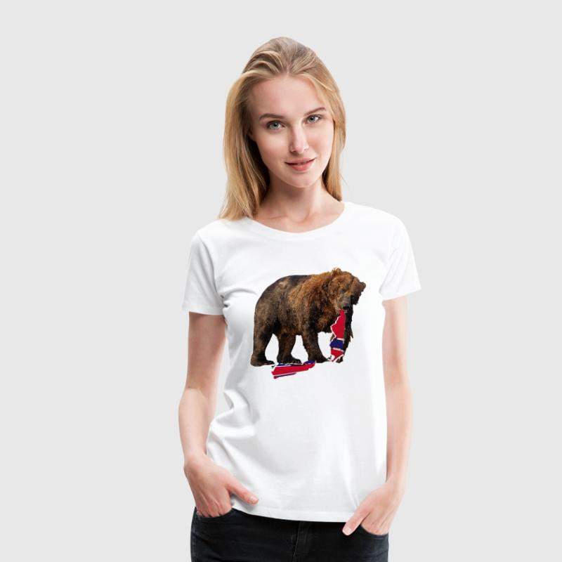 Awesome Bear Bruin Hockey Boston - Women's Premium T-Shirt