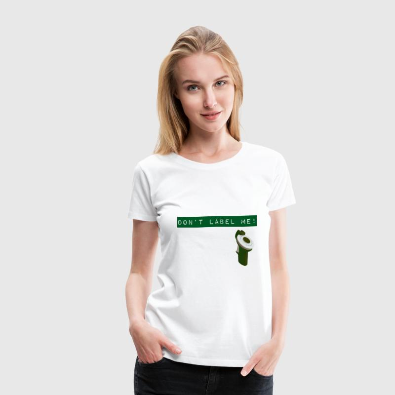 Don't Label Me - green - Women's Premium T-Shirt
