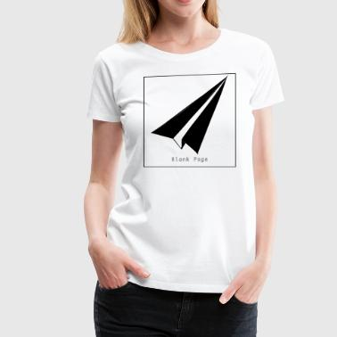 Blank Page Paper Airplane - Women's Premium T-Shirt