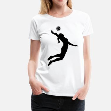 Volleyball Girl Girls Volleyball - Women's Premium T-Shirt