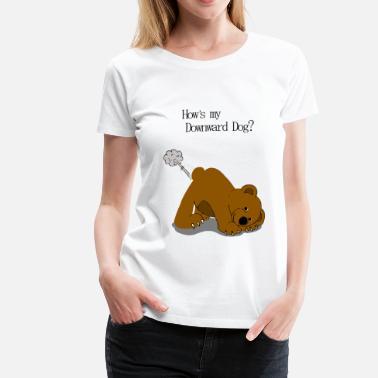 2f2c8b93d Funny Yoga Yoga Bear - Women's Premium T-Shirt