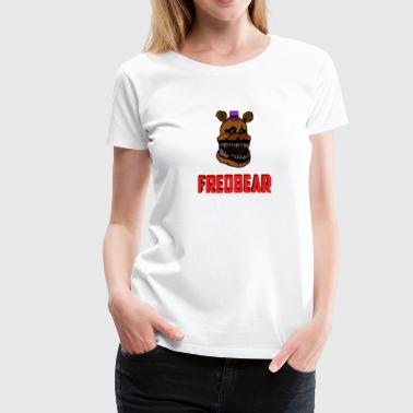 Golden Freddy FNAF 4: Cartoon Fredbear - Women's Premium T-Shirt